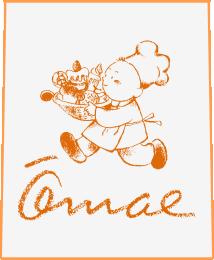 洋菓子のオオマエロゴ